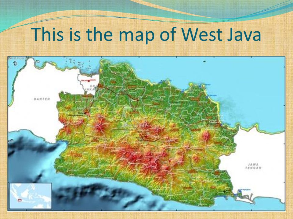 This is the map of Java Island