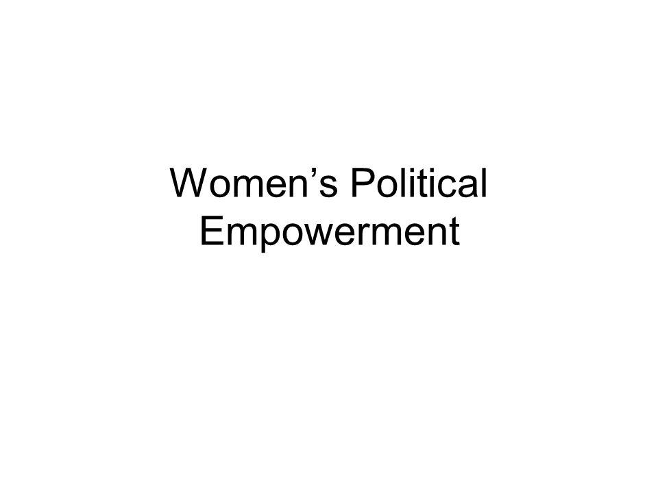 Womens Political Empowerment