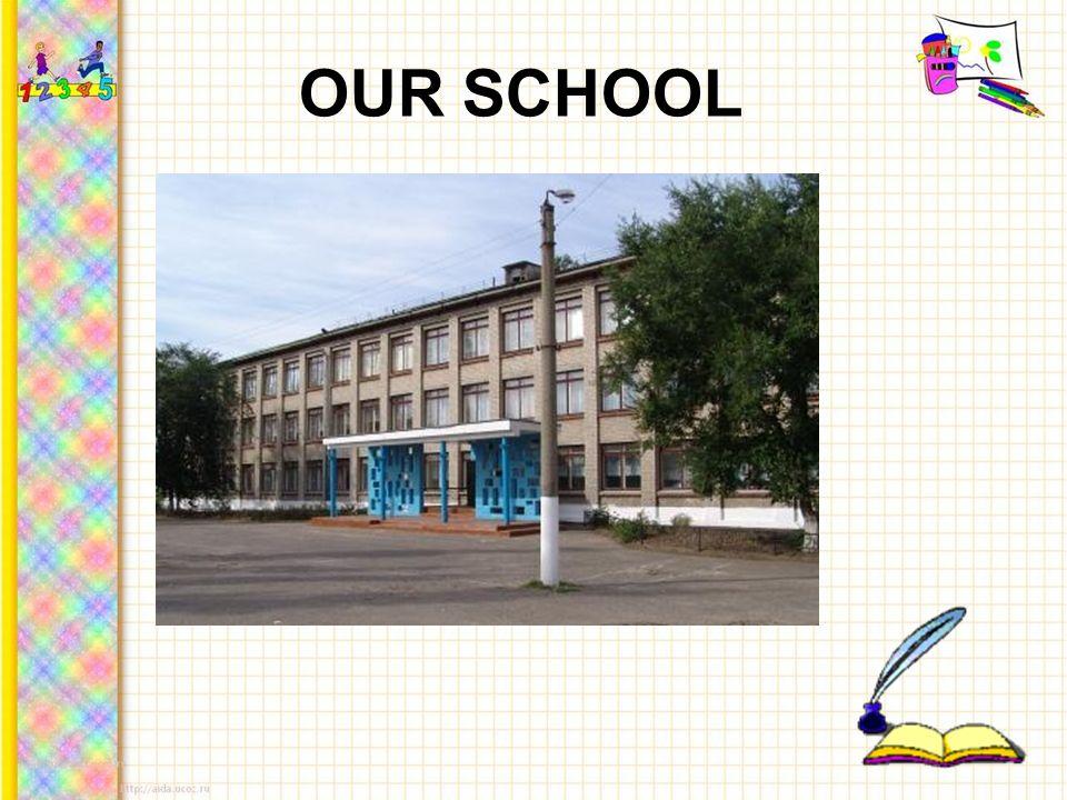 Our school is 45 years old.It has three floors.