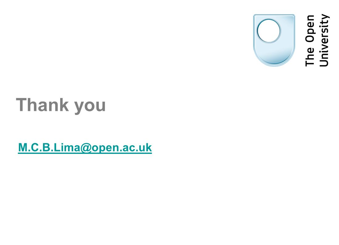 Thank you M.C.B.Lima@open.ac.uk