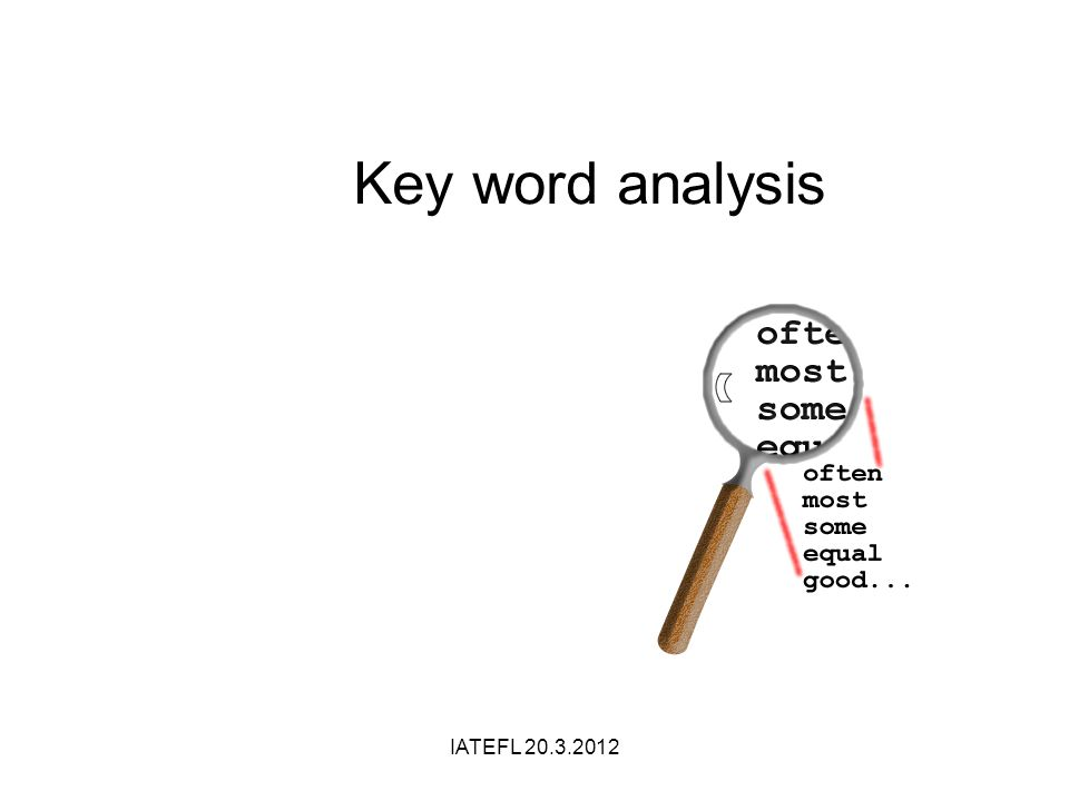 Key word analysis IATEFL 20.3.2012