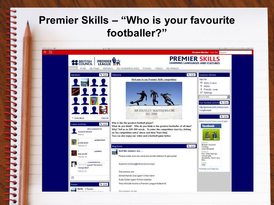 Premier Skills – Who is your favourite footballer
