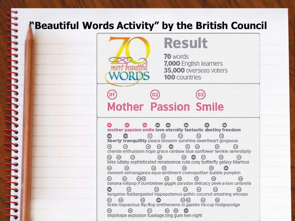 Beautiful Words Activity by the British Council