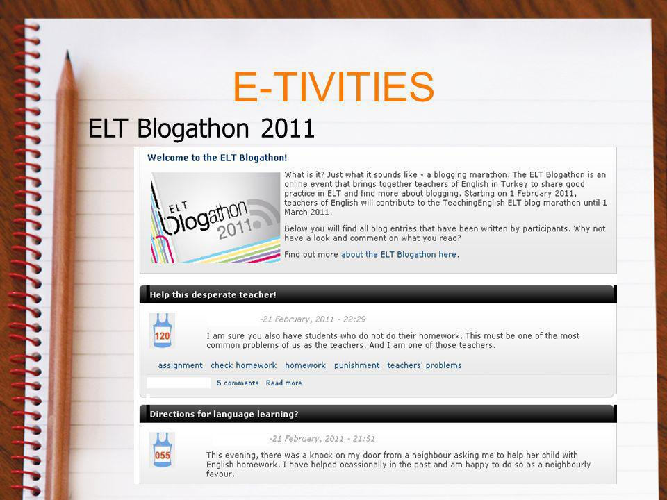 E-TIVITIES ELT Blogathon 2011