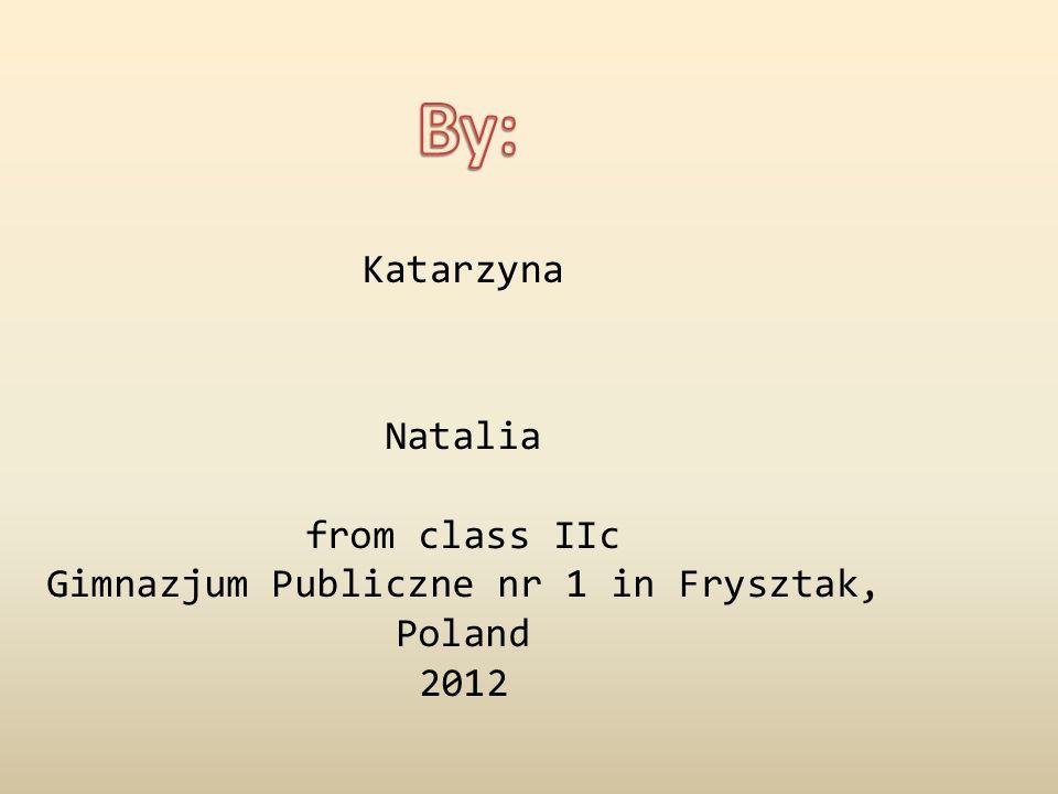 Katarzyna Natalia from class IIc Gimnazjum Publiczne nr 1 in Frysztak, Poland 2012