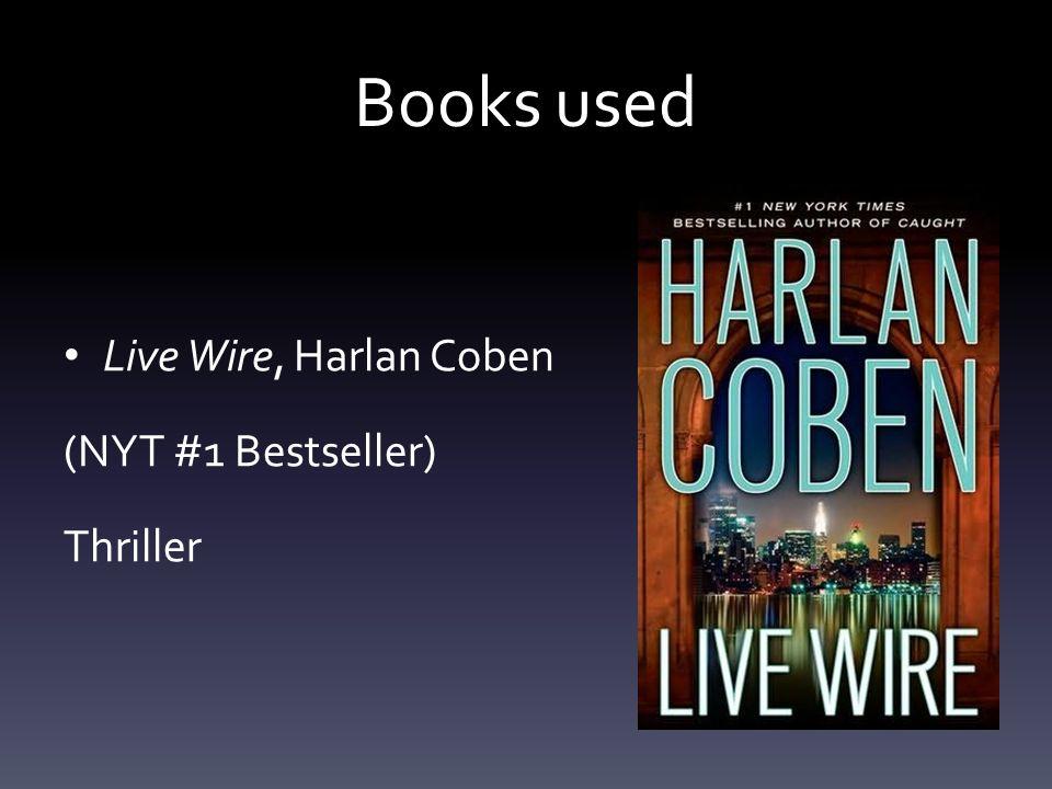 Books used Live Wire, Harlan Coben (NYT #1 Bestseller) Thriller