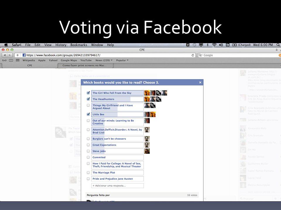 Voting via Facebook