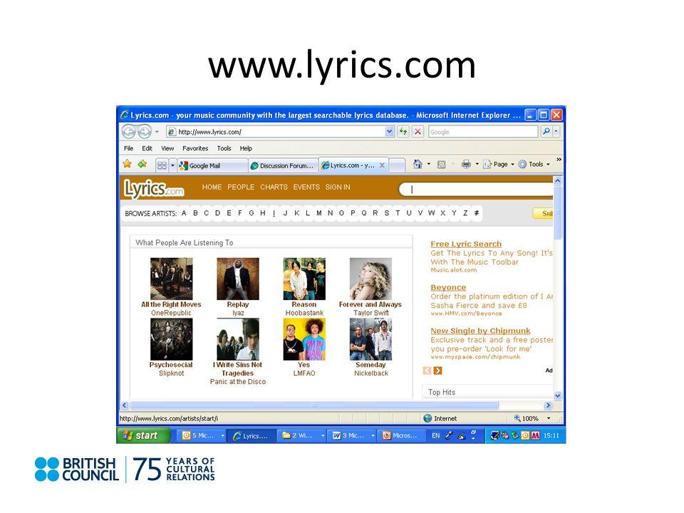 www.lyrics.com