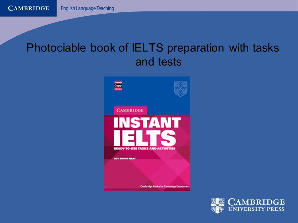 What is there in the Past Papers? Photociable book of IELTS preparation with tasks and tests