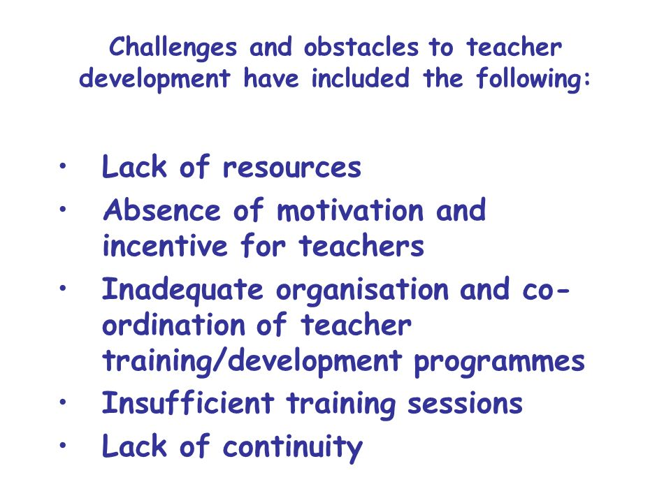 What are the ways in which we can make INSET/teacher development programmes more effective in countries in transition considering the contextual constraints?