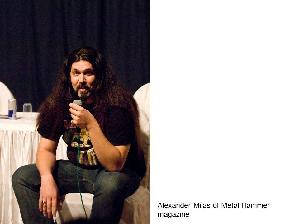 Alexander Milas of Metal Hammer magazine