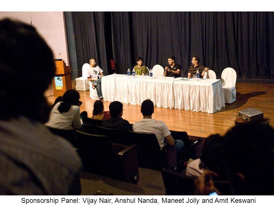 Sponsorship Panel: Vijay Nair, Anshul Nanda, Maneet Jolly and Amit Keswani