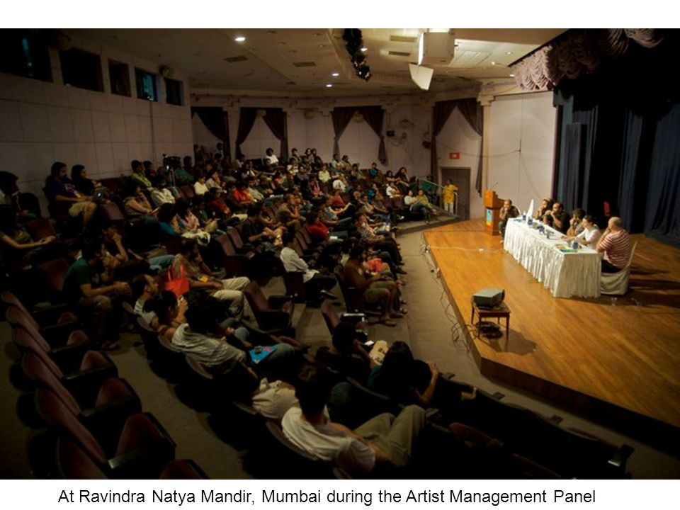 At Ravindra Natya Mandir, Mumbai during the Artist Management Panel