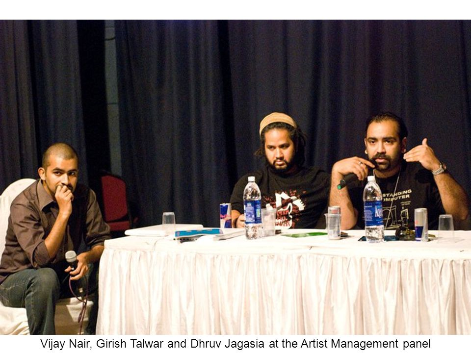 Vijay Nair, Girish Talwar and Dhruv Jagasia at the Artist Management panel