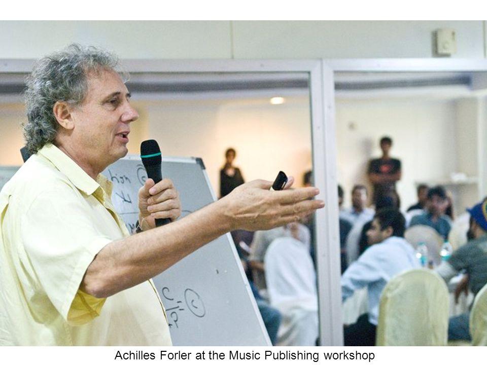 Achilles Forler at the Music Publishing workshop