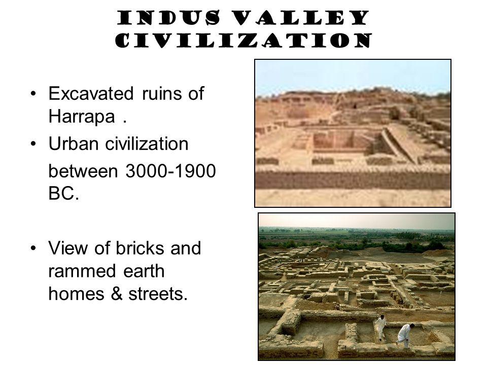 Indus Valley Civilization Excavated ruins of Harrapa.