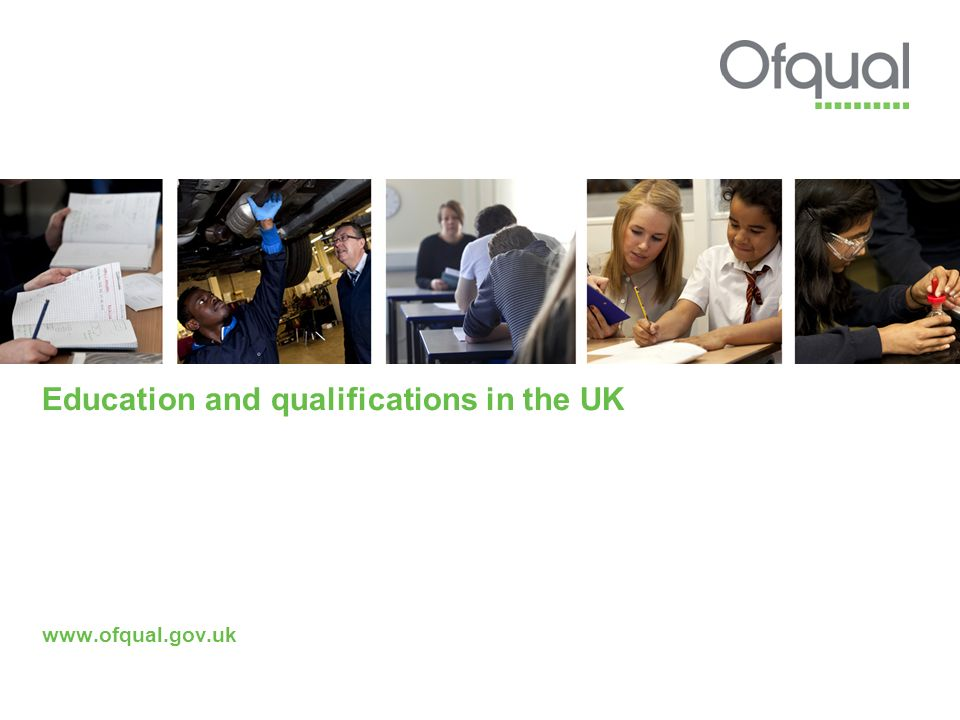 Education and qualifications in the UK www.ofqual.gov.uk