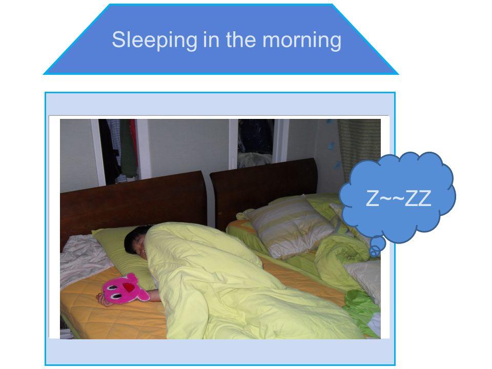 Sleeping in the morning Z~~ZZ