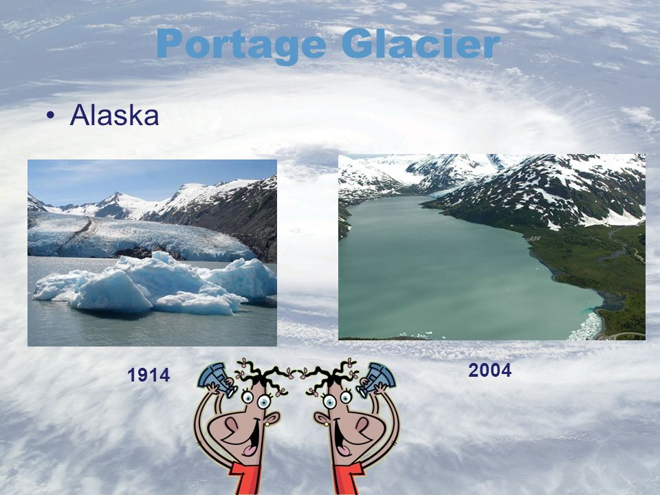 Portage Glacier 1914 2004 Alaska