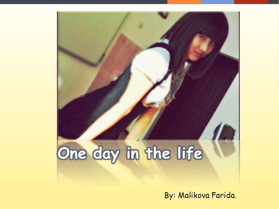Hello.My name is Malikova Farida. I live in Pavlodar in Kazakhstan.