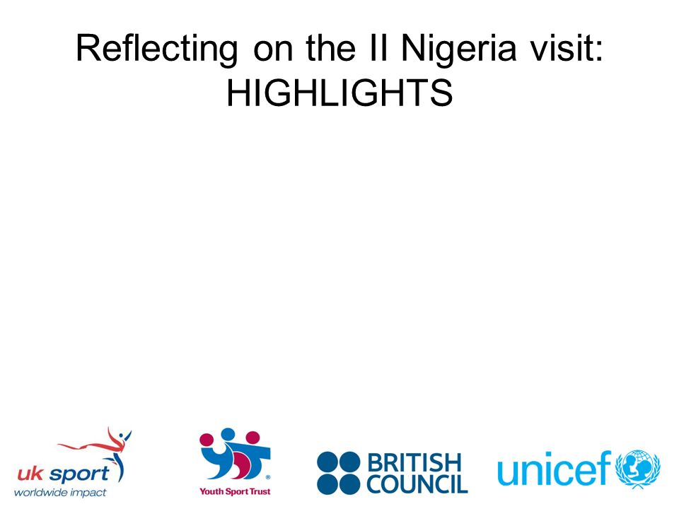 Reflecting on the II Nigeria visit: HIGHLIGHTS