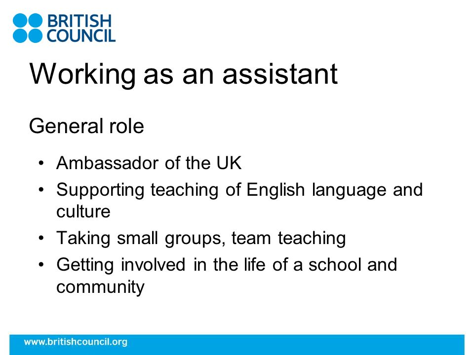 Why be an assistant.