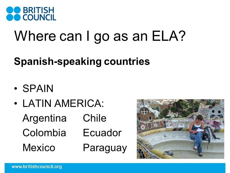 Where can I go as an ELA? Other countries UNDERGRADUATES Italy FINALISTS / GRADUATES China