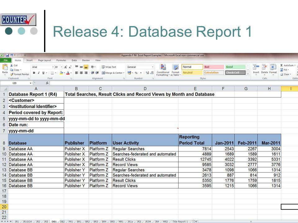 Release 4: Database Report 1