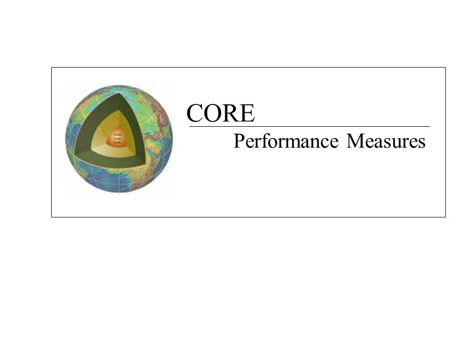 CORE Performance Measures