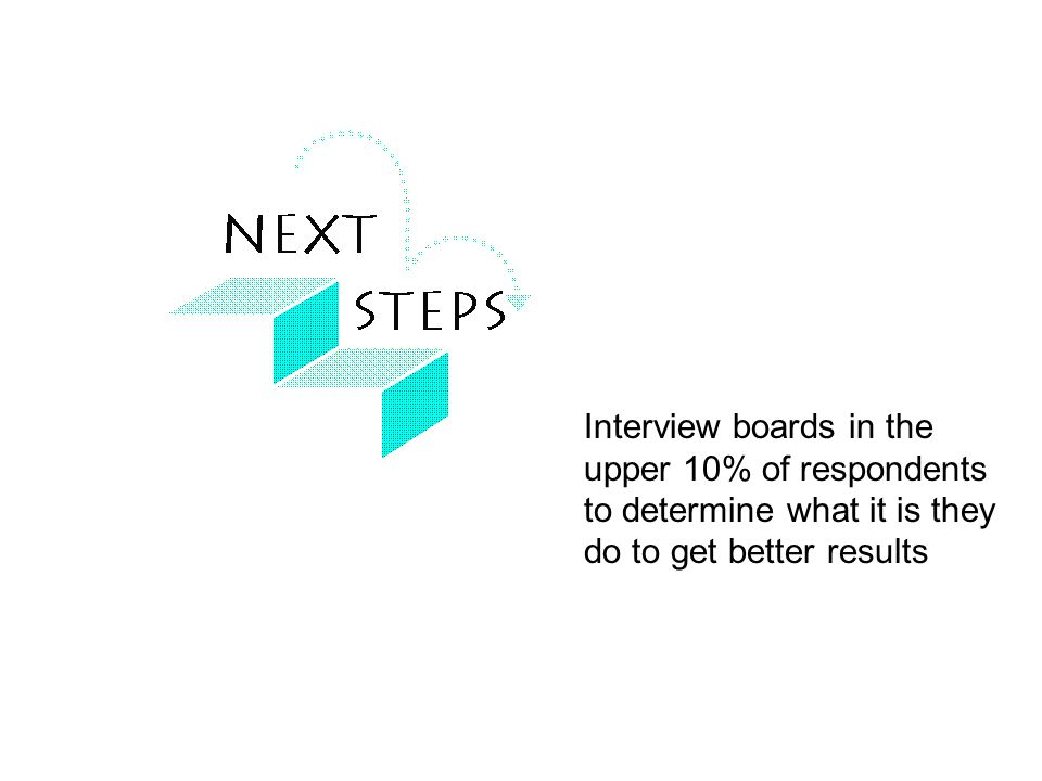Interview boards in the upper 10% of respondents to determine what it is they do to get better results