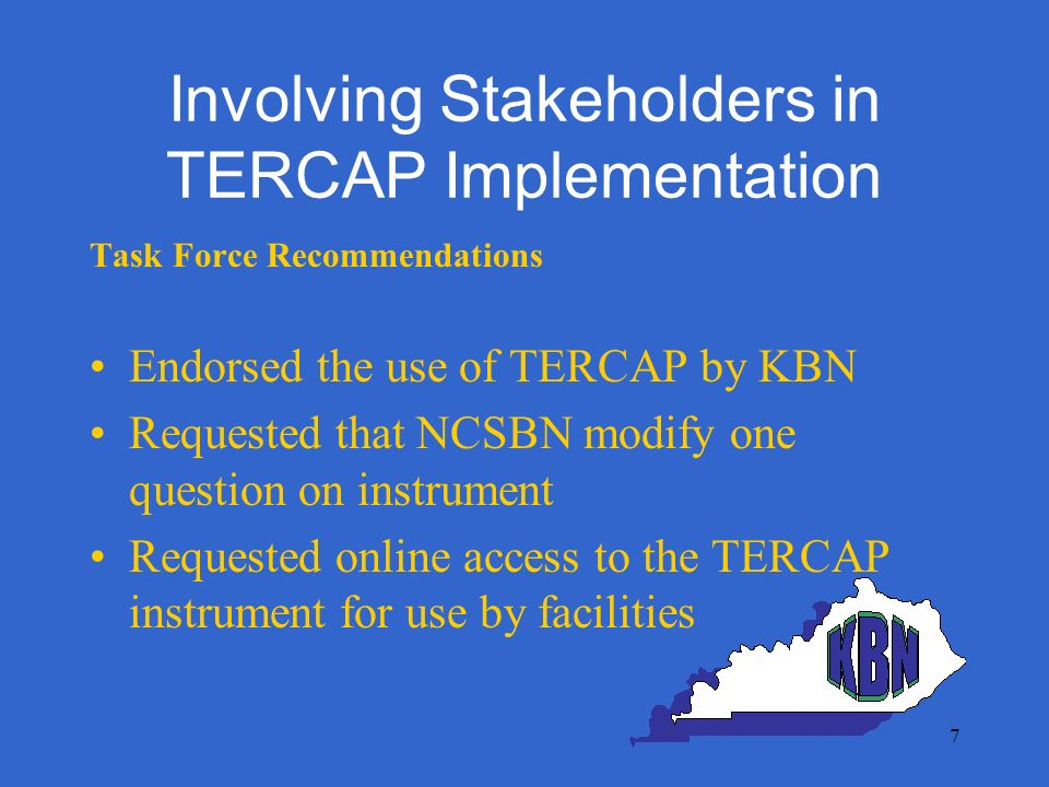 18 Health System & SBON Partnership Objectives Foster open communication & improve sharing real-time information through use of TERCAP Increase knowledge of patterns & trends related to practice breakdown resulting in organizational learning Better understand reportable events, contributing factors & SBON actions