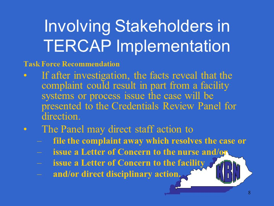 19 Three Factors Related to Progress Over emphasizing the forest & little attention to the trees Concepts aimed at Board Investigators & Executive Directors rather than where critical organizational work is done Protocols & tools were lacking
