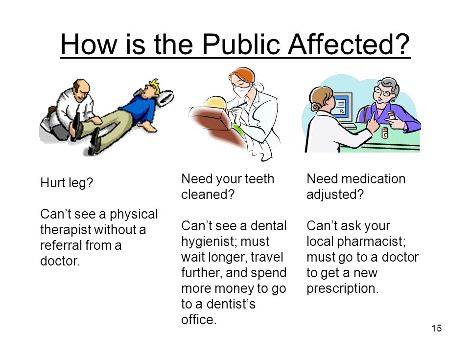 How is the Public Affected. Hurt leg.