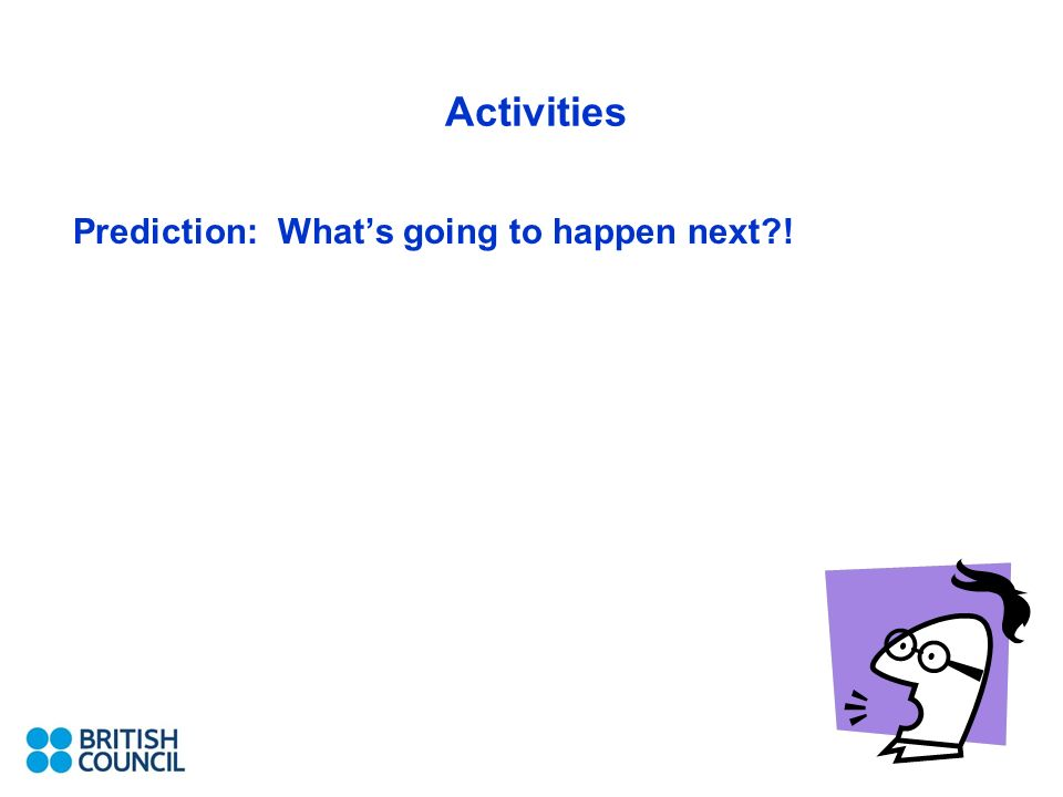 Activities Prediction: Whats going to happen next !