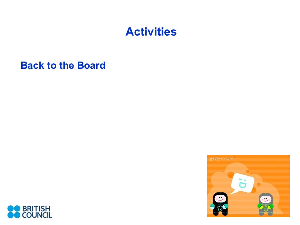 Activities Back to the Board