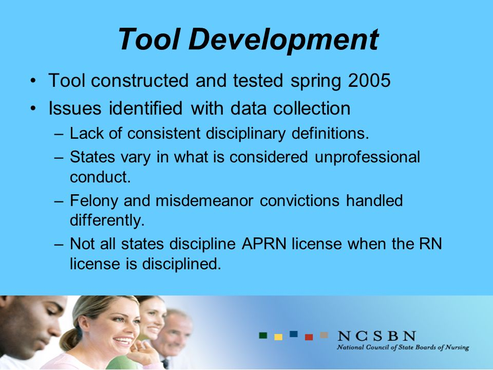 Tool Development Tool constructed and tested spring 2005 Issues identified with data collection –Lack of consistent disciplinary definitions.