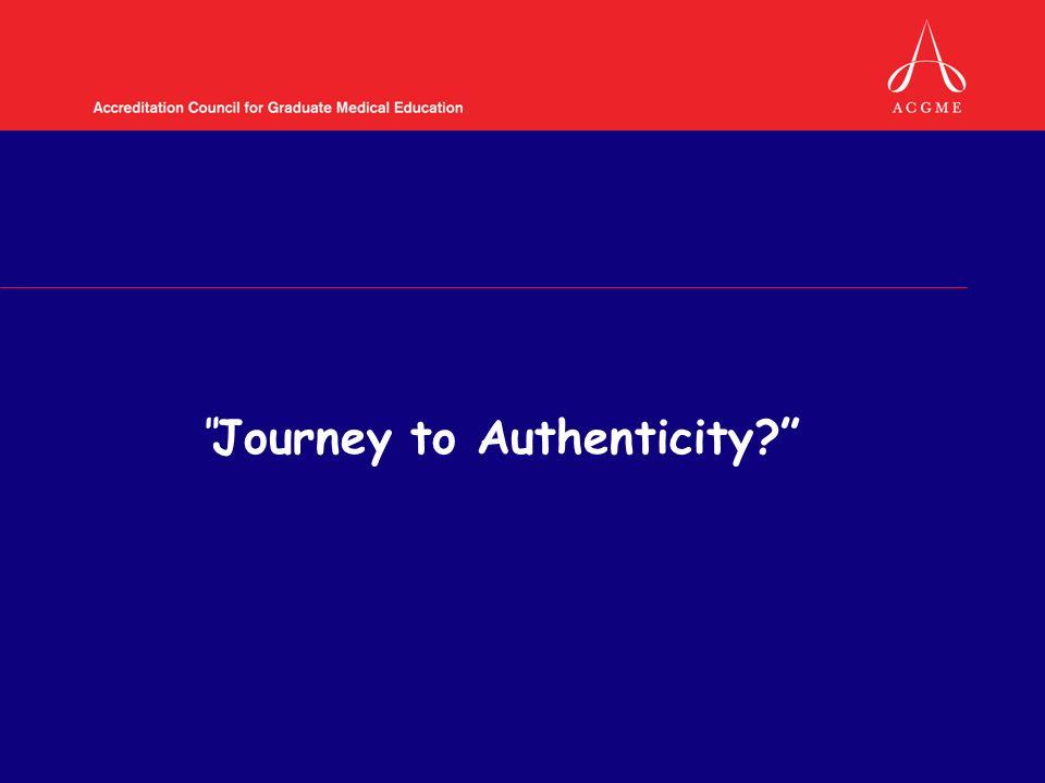 Journey to Authenticity?