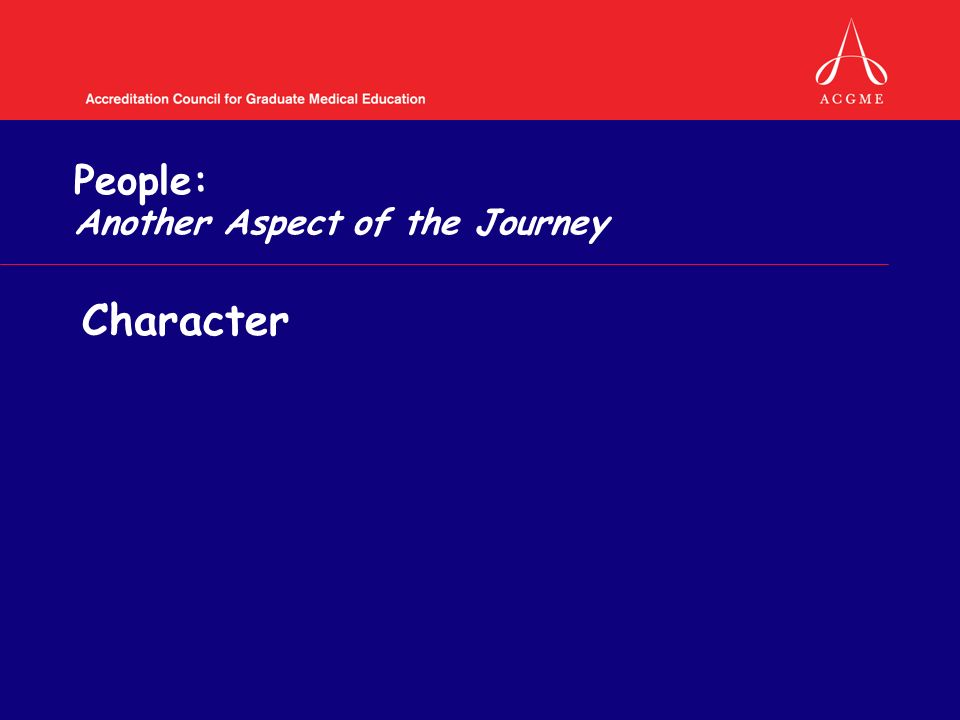 People: Another Aspect of the Journey Character