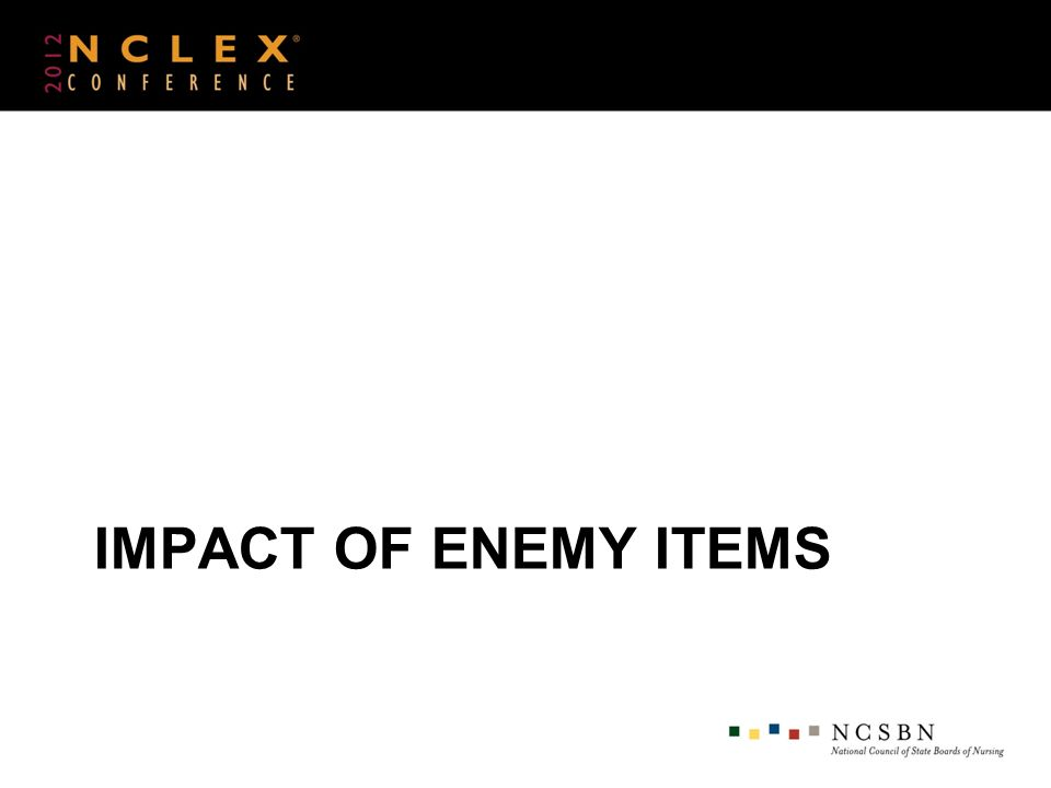 IMPACT OF ENEMY ITEMS