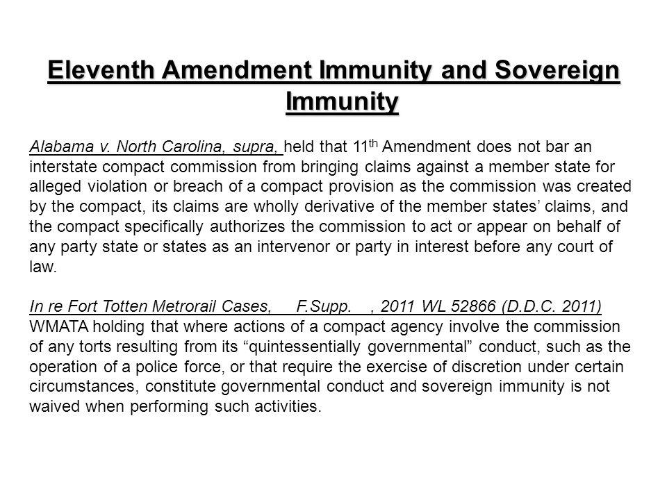 Eleventh Amendment Immunity and Sovereign Immunity Alabama v.