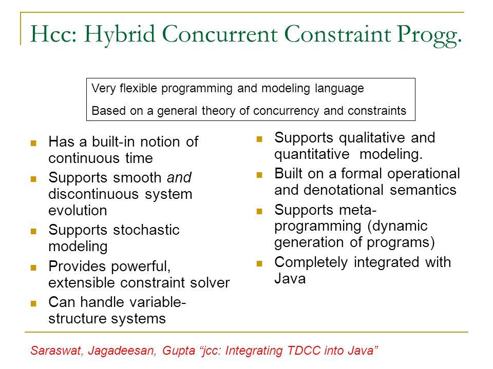 Hcc: Hybrid Concurrent Constraint Progg.