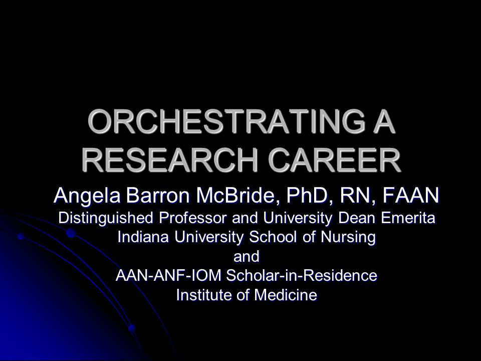 What are the key transitions in a research career.