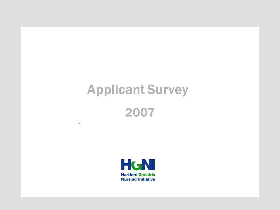 2007 Applicant Survey