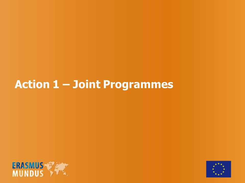 Action 1 – Joint Programmes