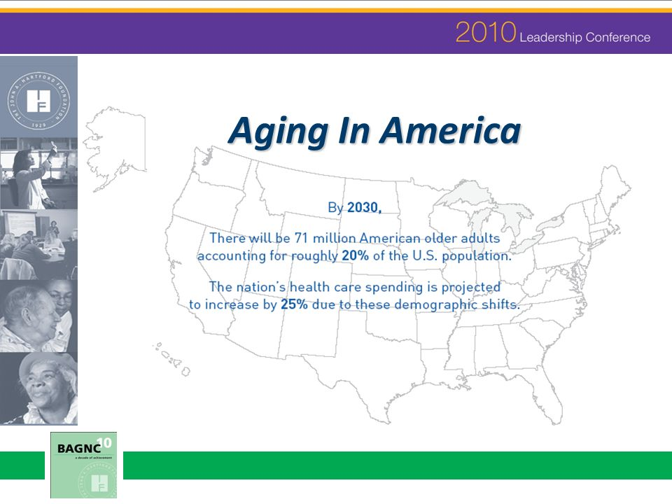 Adults over 65 represent 12% of the population, yet account for: 26% of all physician office visits 35% of all hospital stays 34% of prescriptions 38% of all EMS responses 70% of home health services 90% of nursing home use 80% of all deaths Institute of Medicine: Retooling for an Aging America, 2008