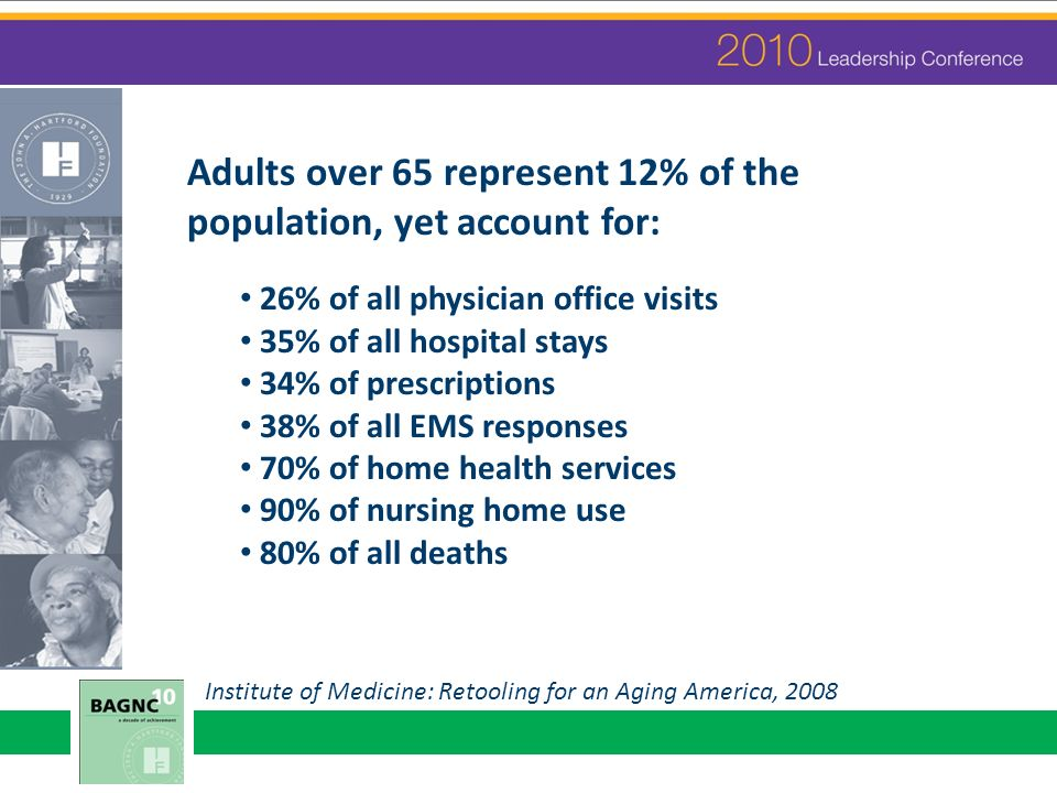 Holding Leadership Conference before GSA sets expectation for scholars to attend that meeting annually Greater nurse representation at GSA will, in turn, change face of gerontology