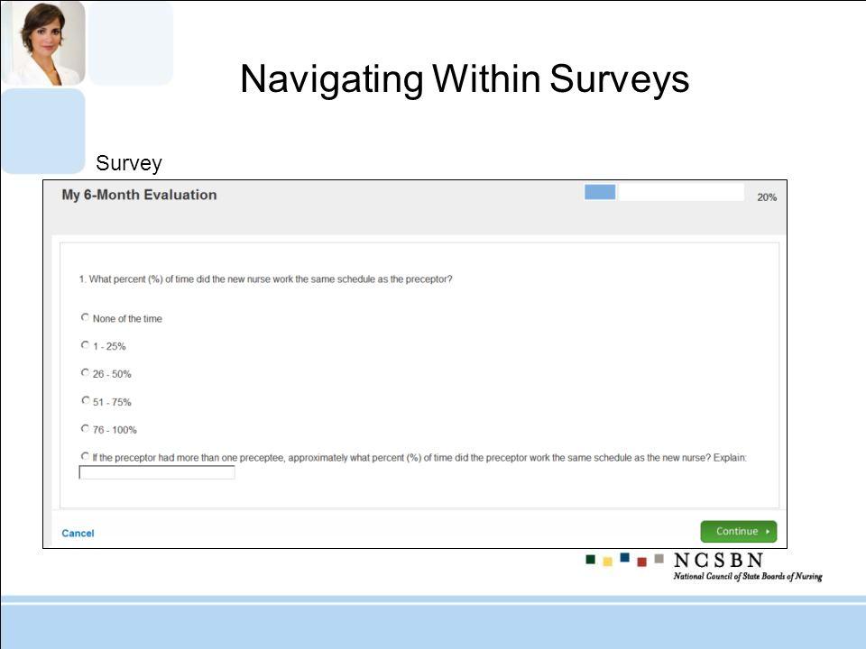 Survey Navigating Within Surveys