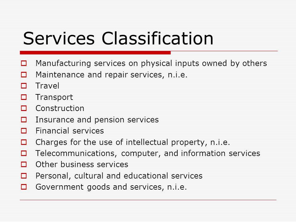 Other Business Services Other business services, n.i.e.