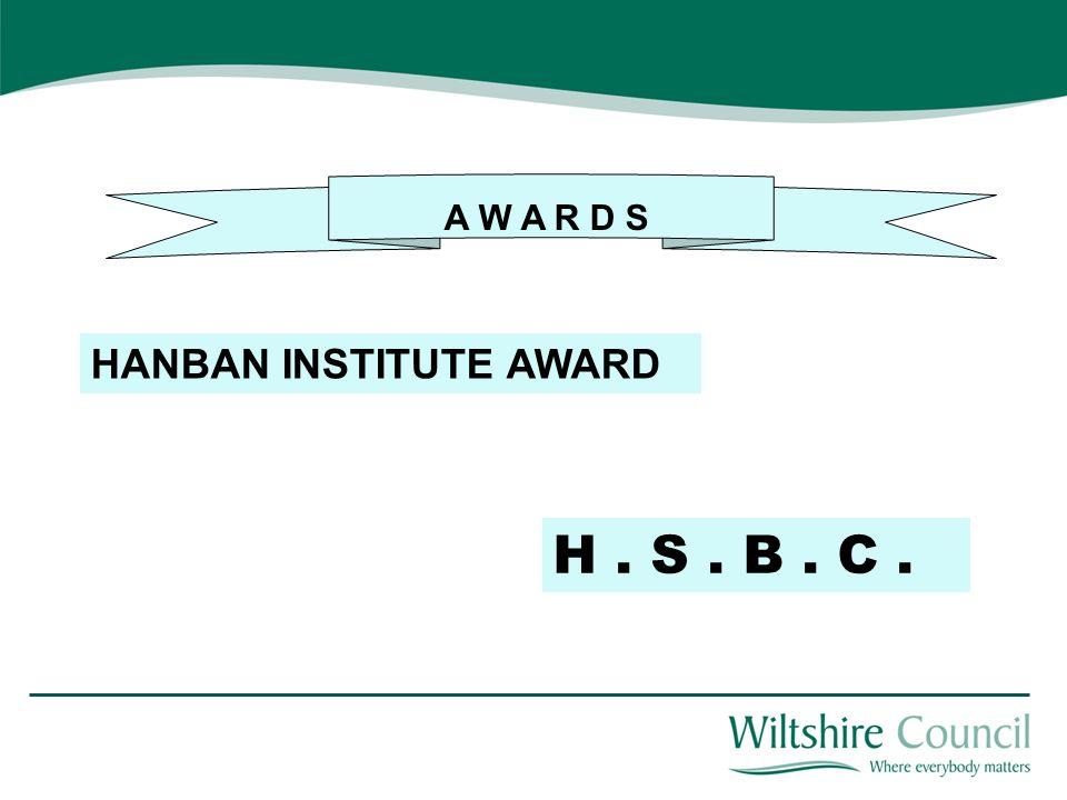 A W A R D S HANBAN INSTITUTE AWARD H. S. B. C.