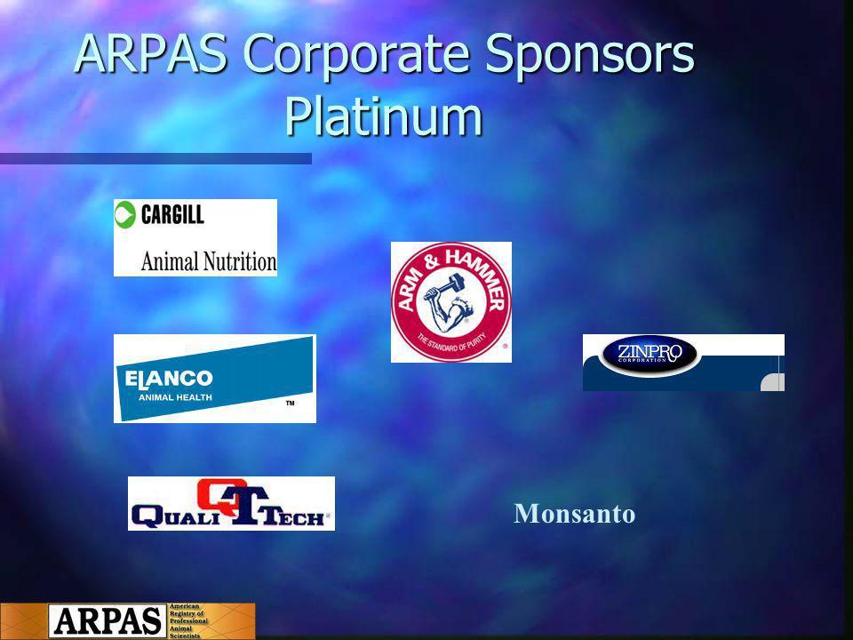 ARPAS Corporate Sponsors Platinum Monsanto